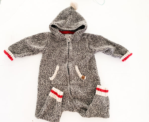 Roots grey cabin hood romper (18-24 months)