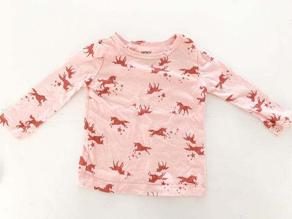 Carters metallic unicorn pink LS shirt (6 months)