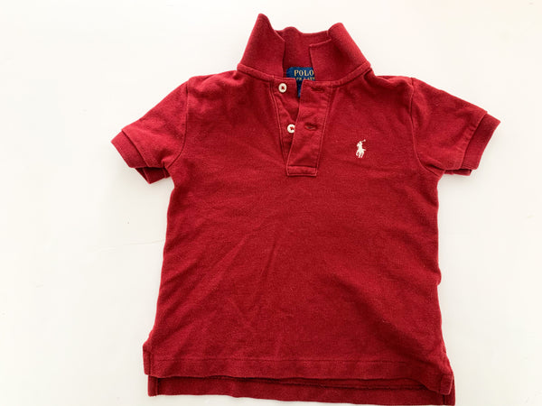 Ralph Lauren burgundy polo shirt ( size 2)