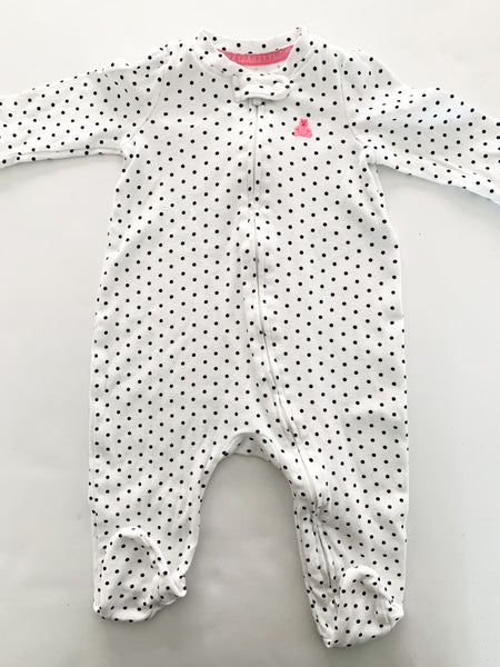 Gap BW polka dot sleeper (3-6 months)
