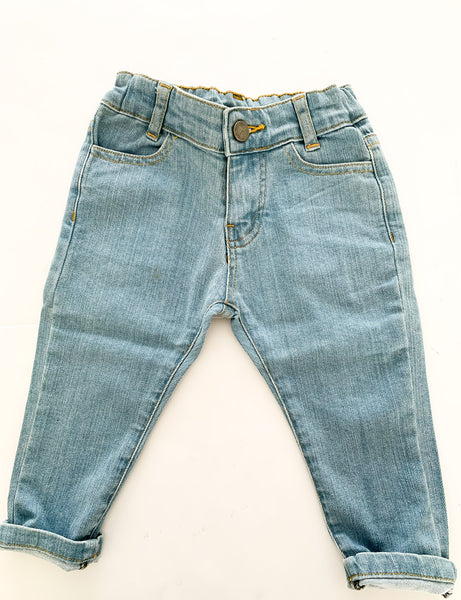 Le Petite Collection light blue denim jeans size 18 months