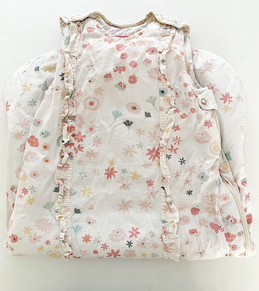 Petit Pehr floral sleep bag with ruffle details size 9-18 months