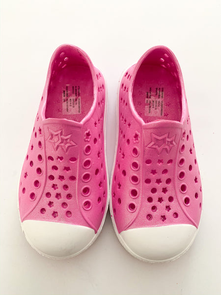 Cat & Jack pink rubber shoes (size 7-8)