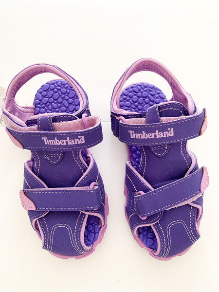 Timberland purple closed toe sandals with velcro straps new with tags size 12US