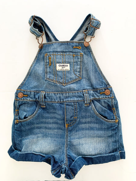 OshKosh B'gosh denim overall shorts size 12 months