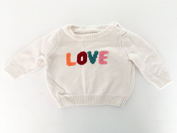 Gymboree love ivory sweater (0-3 months)