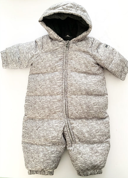 Baby Gap grey snowsuit with mitts & booties size 0-6 months