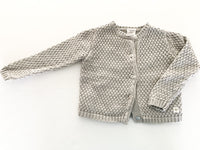 Carrement beau knited grey metallic cardigan(size 2)