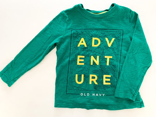 Old Navy green 'adventure' long sleeve shirt size 4T