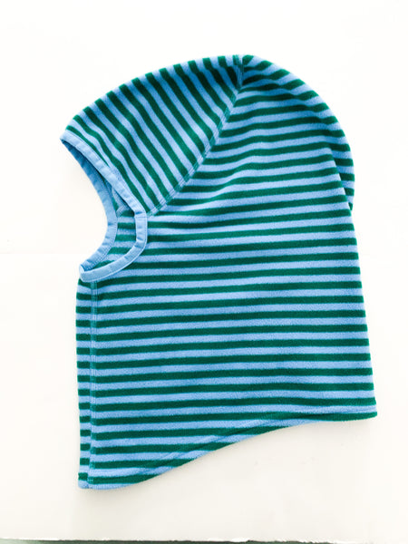 MEC blue and green stripe balaclava (size large)