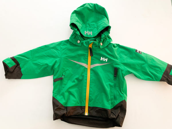 Helly Hansen green jacket with insulated detachable hood (size 1)