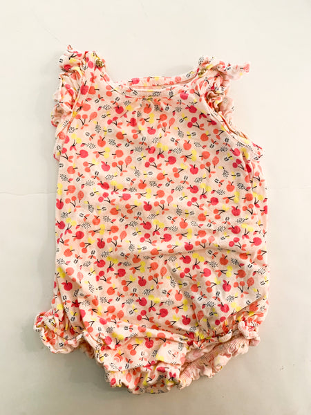 Gap pink romper w/fruit  (6-12 months)