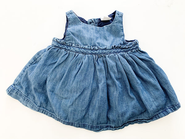 Baby Gap denim tank dress with navy bloomers size 0-3 months