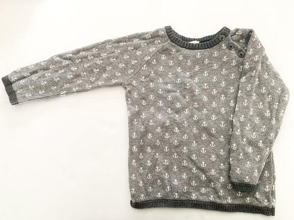 HM grey anchor sweater (size 1.5-2)