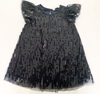 HM navy sequin dress  (size 2-3)