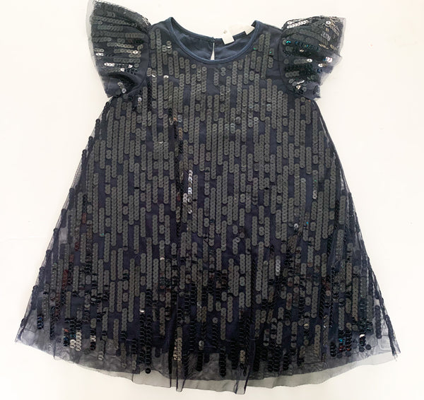 H&M navy sequin dress  (size 2-3)