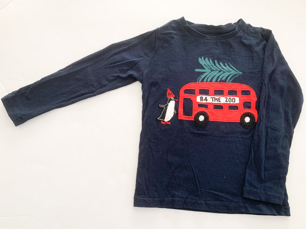 M&S penguin on double decker bus LS (size 3/4)