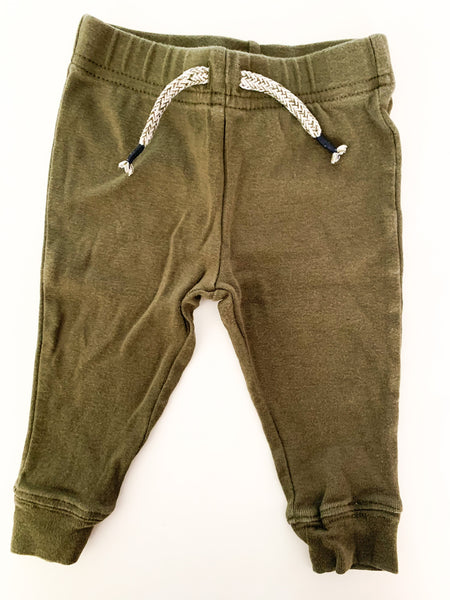 Joe Fresh army green leggings size  3-6 months