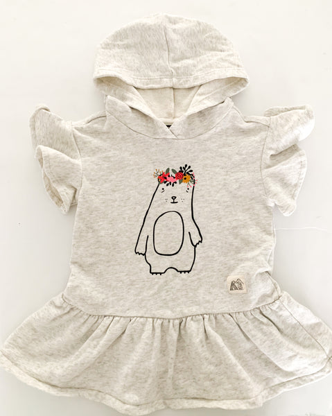 Art class grey peplum jersey dress with animal (12 months)