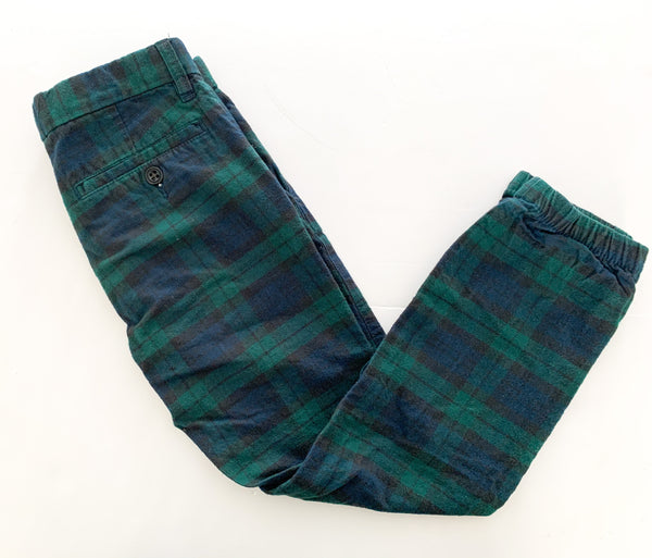 Gap plaid green/blue pant(size 8)