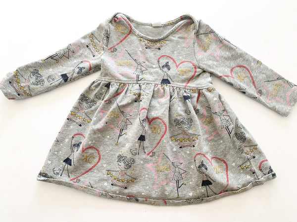 Baby Gap grey sweater with graphic print & bloomers size 2T