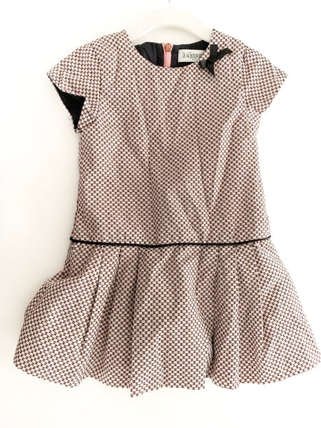 Maison Jean Bourget checkered shimmer dress (age 3)