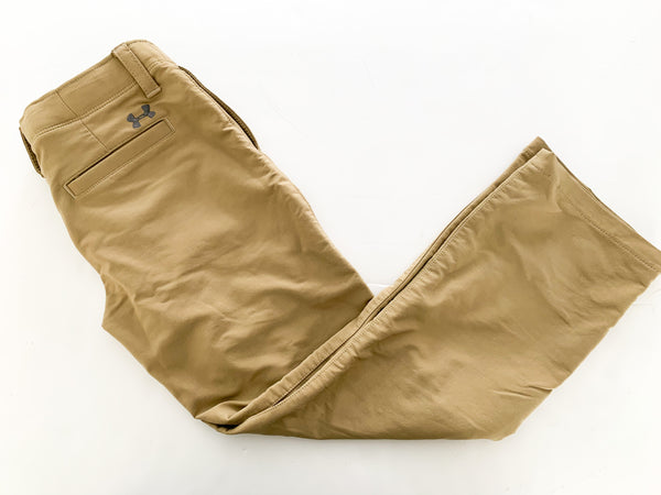 Under Armour beige pant (youth small/medium)