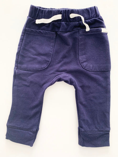 Miles Baby Navy joggers with drawstring