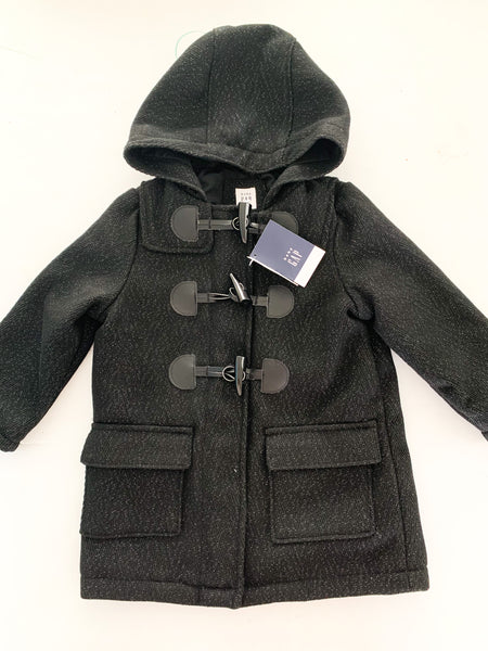 Gap black coat w/metallic dots (size 2)