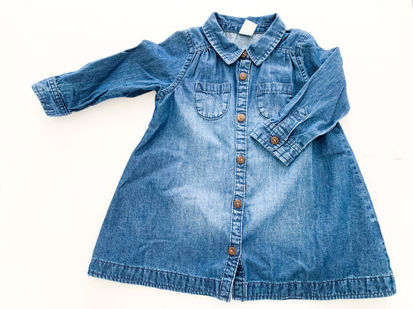 Old navy denim dress  (6-12 months)