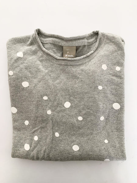 Bench grey polkadot sweater size age 11/12