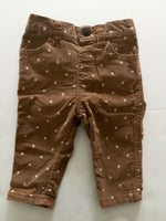 Joe fresh tan polka dot cord pants  (3-6 months)