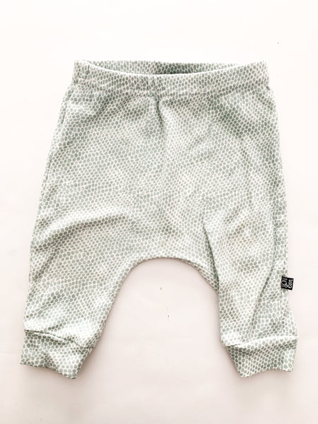 Vonbon mint green spotted harem pants (3-6 months)