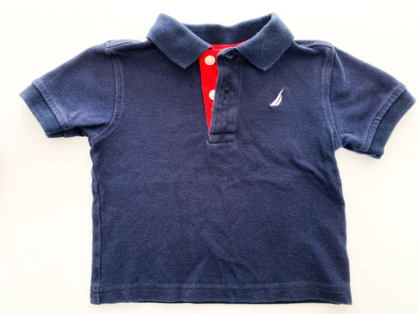 Nautica navy polo shirt (12 months)