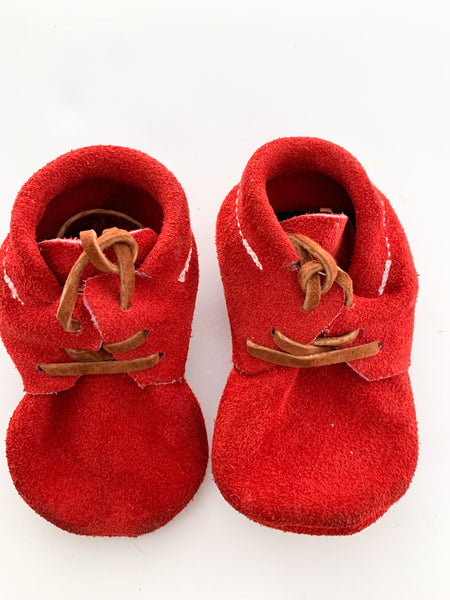 First Prints red mocs size: ~5""