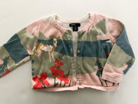 Gap deer with floral cardigan (12-18 months)