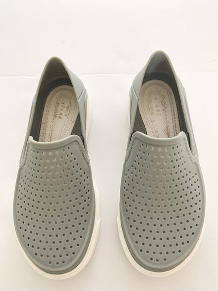 Crocs grey Citilane Roka slip on ( size 11)
