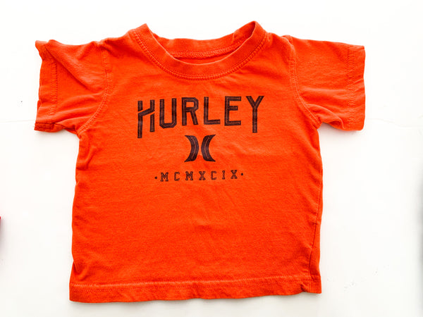 Hurley orange shirt (12 months)