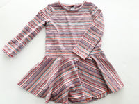 Tea stripe dress with peplum bottom (size 2)