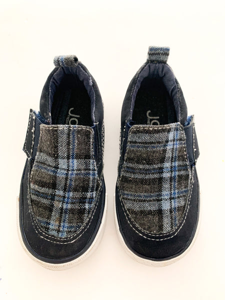 Joe fresh plaid slip on loafers (size 5)