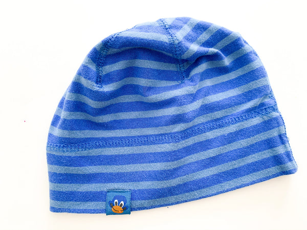H&M blue stripe cotton hat size 2-6 months