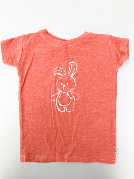 Mi & Fi bunny orange T-shirt (size 2)