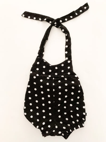 Little & Lively BW polka dot romper (0-6 months)