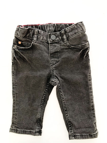 H&M black denim jeans size 4-6 months