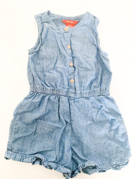 Joe fresh denim tank romper (size 3)