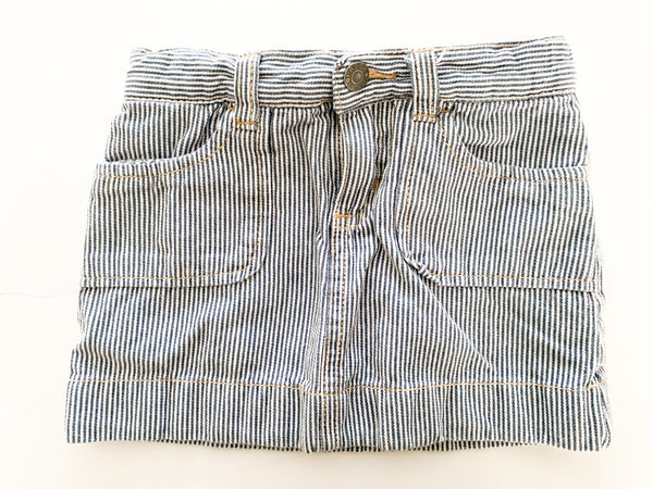 Joe fresh blue and white stripe denim skirt (size 3)