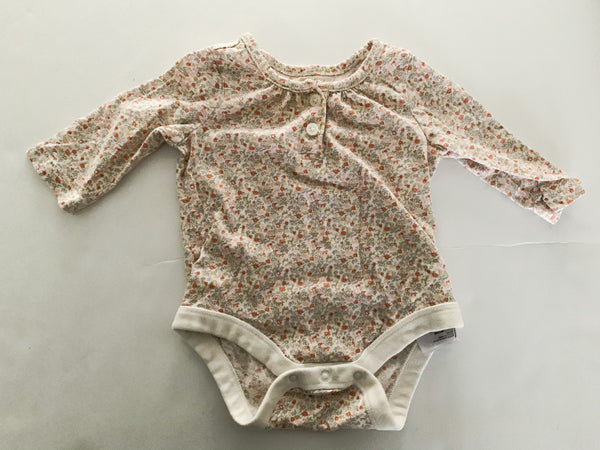 Gap floral 2 button down onesie  (0-3 months)