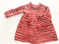 Joe Fresh pink stripe sweater dress size 3-6 months