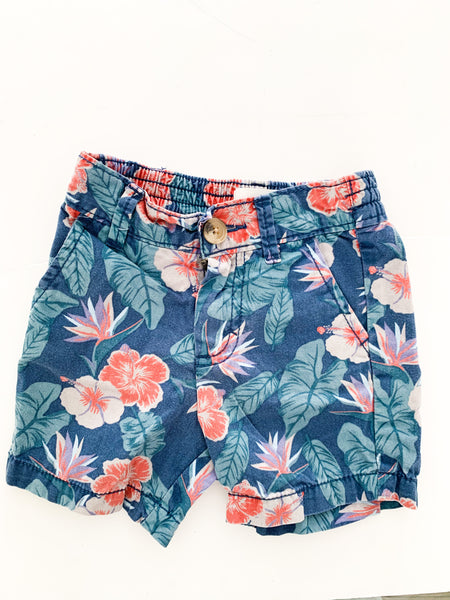Old navy floral shorts (12-18 months)