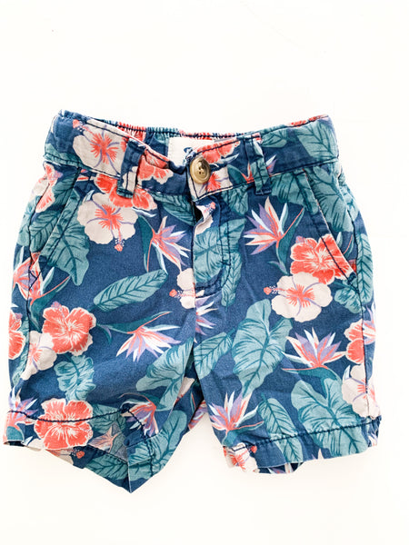 Old navy floral shorts (18-24 months)